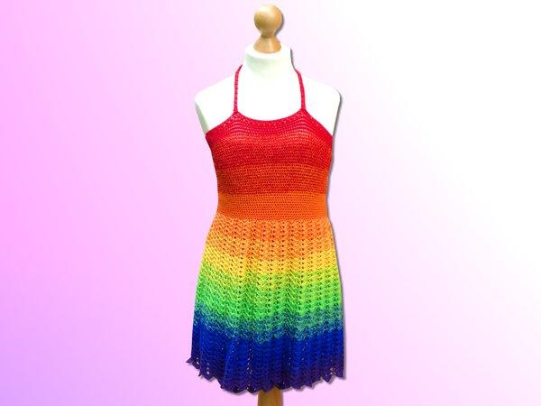Häkelanleitung - Kleid Rainbow Stars - alle Größen - einfach