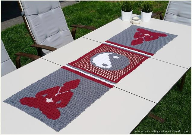 Crochet Pattern For Table Runner Buddhas Tea Party