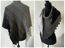 Crochet pattern: shawl Nightshadow