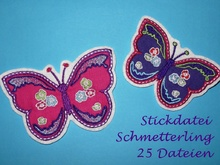 Stickdatei Schmetterling Flower Butterfly neu mit 25 Dateien
