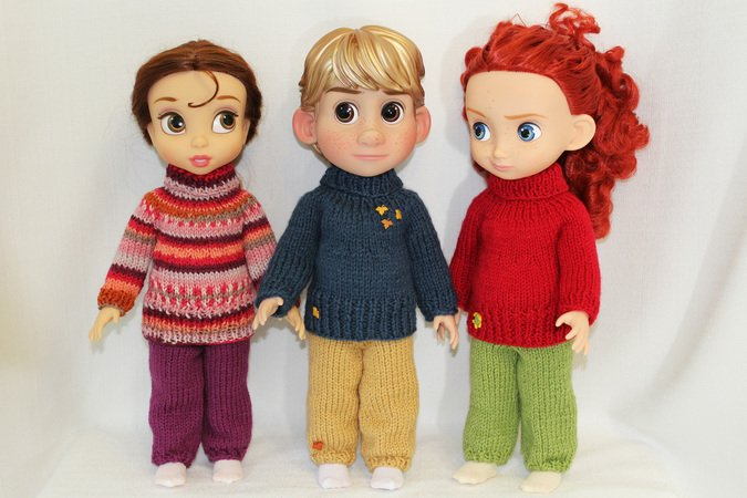 Knitting Pattern For Sweater And Sweatpants For Disney Animators 16