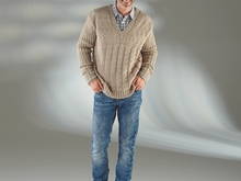 "Strickanleitung Herrenpullover ""Sporty"" 756121"