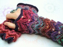 "Wrist Warmers ""Malou"", knitting pattern, 2 sizes"