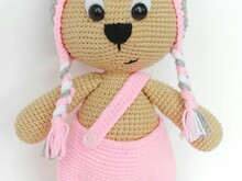 Bear with Cat cap -  Crochet pattern english