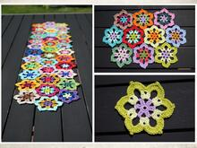 "crochet pattern saucer, table runner ""Mandala"""