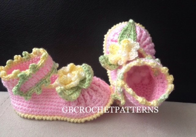 Crochet Pattern Baby Summer/spring shoes, Baby shower shoes, ballet shoes pattern