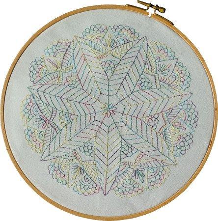 Stickmuster Und Anleitung Mandala Sternblume