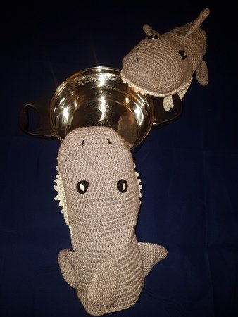 Crochet pattern Shark oven gloves/potholders