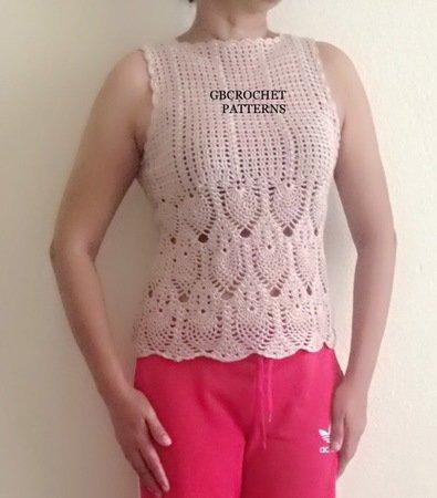 Crochet pattern women vest pattern elegant crochet top pineapple top crochet pattern women vest pattern elegant crochet top pineapple crochet pattern chart pattern step by step dt1010fo