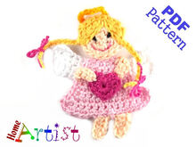 Angel Princess Crochet Applique Pattern