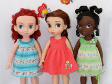"Knitting Pattern for Cute Sundresses for Disney Animators' dolls (16"")"