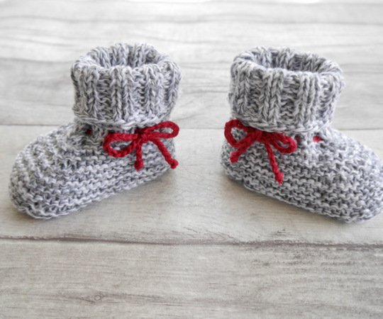 Knitting Pattern – BABY BOOTEES basic – No.168E-1