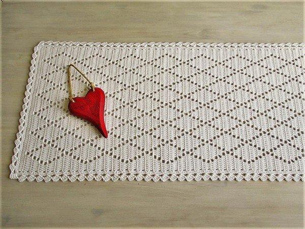 tischl ufer h keln rautenmuster bord re. Black Bedroom Furniture Sets. Home Design Ideas