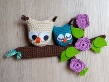 Owl door hanger, hanging decoration, window decoration for hanging, crochet pattern owl