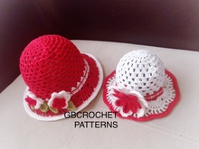 Crochet Pattern, Mom and Me, Baby to adult summer Sun hat, Baby girls Hat, crochet summer hat pattern, girls hat, Nb to adult sizes, US/UK