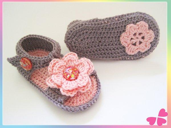 Sandalen Fürs Baby Häkeln 0 12 Monate Häkelanleitung