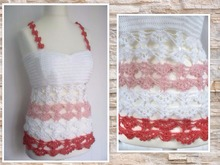 "crochet pattern top ""peaches"", size 34-44"