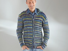 "Strickanleitung Herrenjacke ""Feinstrumpf Color"" 755098"