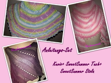 Anleitungs-Set Kuvio+SweetSummer Tuch+Stola