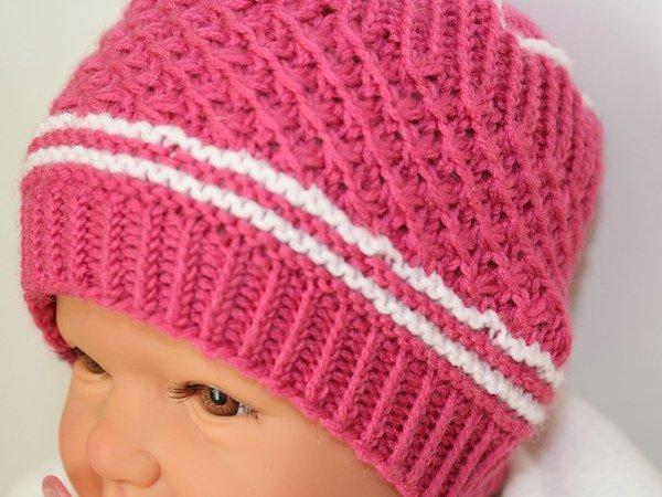 Strickanleitung Babymütze Baby Mütze Sternchenmuster Ca 2 6 Monate