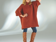 "Strickanleitung Damenponcho-Pullover ""Ideal"" 756112"