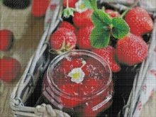 Strawberry cross stitch pattern,strawberries pdf,strawberry jam embroidery pattern,chart