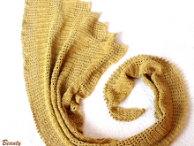 "Asymmetrical Shawl ""Golden Dragon"""