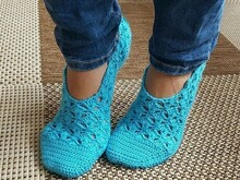 Crochet Pattern home shoes (US 5 / 7 / 9 / 11; UK 3 / 5 / 7 / 9)