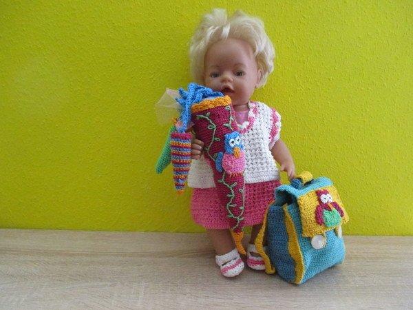 Häkelanleitung- Schulanfang für Puppen