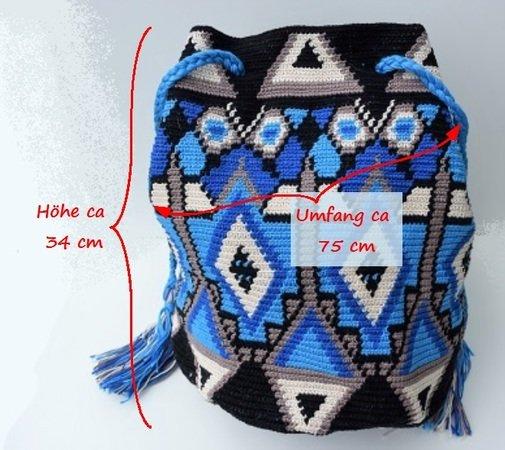 Tasche Häkeln Mochila Wayúu Tapestry