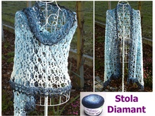 "Stola ""DIAMANT"" mit 1 Woolly Hugs BOBBEL-COTTON häkeln"