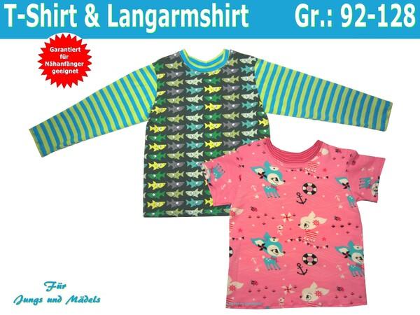 Kinder T-Shirt & Kinderpullover - Schnittmuster und Nähanleitungen