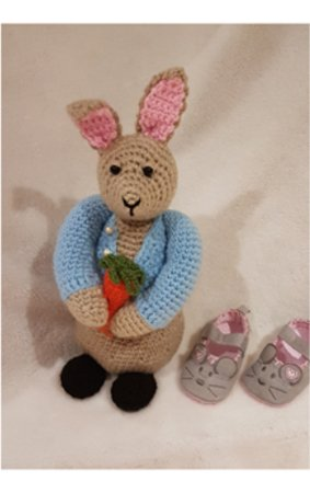 Peter Bunny Rabbit toy Crochet Pattern