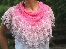 "crochet pattern triangle scarf ""rose blossom"""