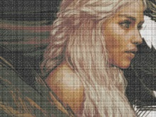 Cross Stitch Pattern Game of Thrones Daenerys Targaryen Cross Stitch ,Design, Movie Star Printable PDF Instant Download Handcraft