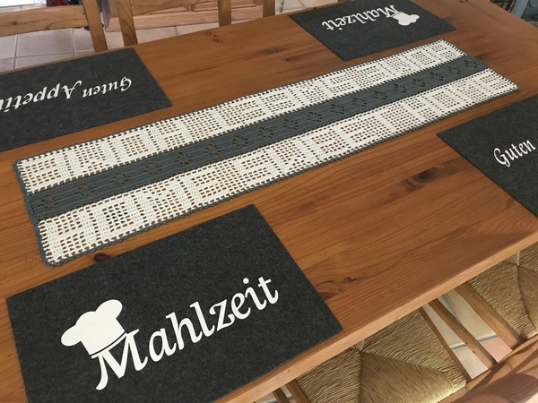 tischl ufer h keln tischdeko h keln deko. Black Bedroom Furniture Sets. Home Design Ideas