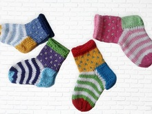 Knitting pattern baby socks - 4 sizes