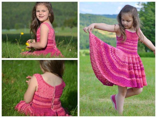 Rosie Batikkleid Häkeln Für Größe 116 122 Kleid Häkelkleid
