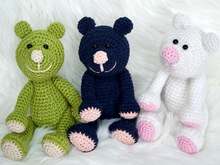 Crochet Pattern Berni the bear