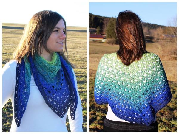 "Crochet pattern: Shawl ""Dream about Summer"""