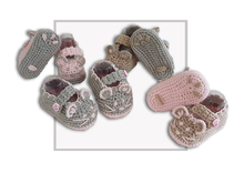 Mouse Crochet Baby Booties