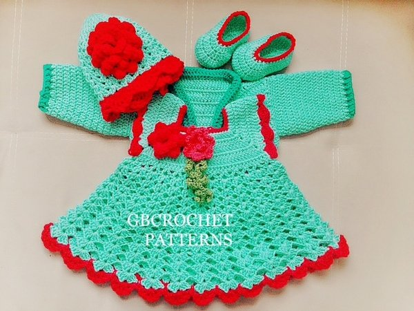 Baby Dress Crochet Pattern Setpinafore Baby Dress Take Home Baby
