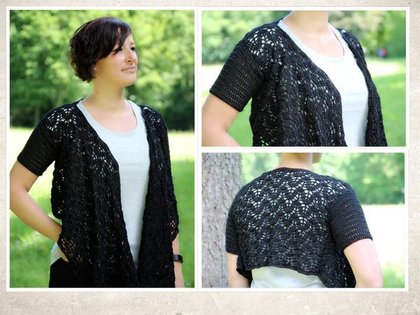Crochet Pattern Bolero Shrug Mit Scarf Size S Xxl