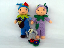 Crochet Pattern Flower Gnome Flora and Florian