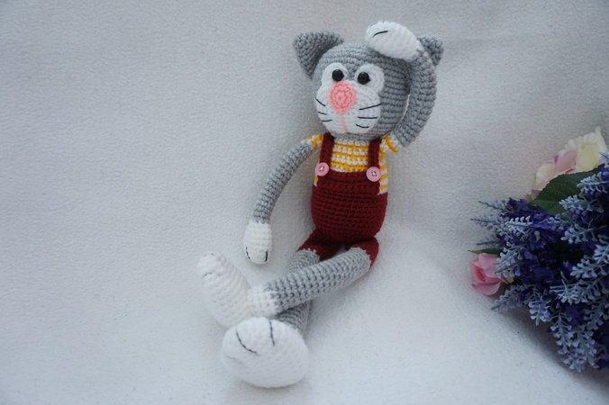 Crochet cat free pattern amigurumi | Amiguroom Toys | 450x676