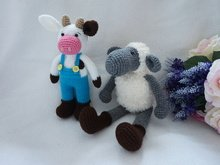 Cow and sheep crochet pattern