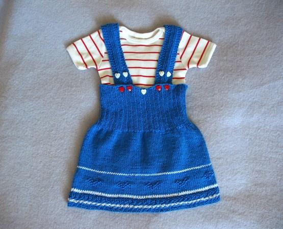 Baby Kleid Stricken Trägerkleid 6 18 Mon