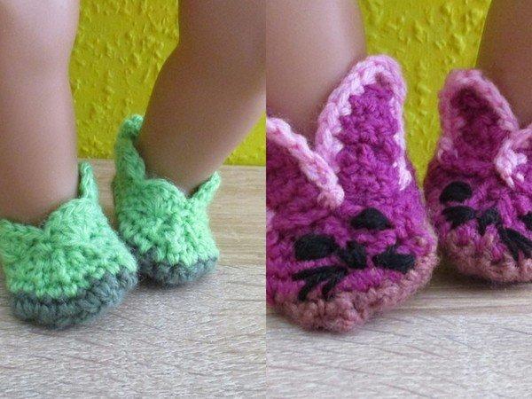 Häkelanleitung- Schuhe für Babypuppen