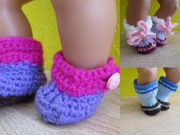 Häkelanleitung- Stiefel für Babypuppen