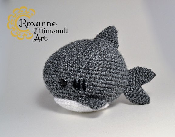 Shark amigurumi pattern crochet toy | 450x577